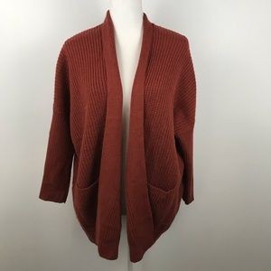 Debut knit open cardigan burnt orange size XS